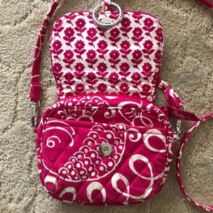 Vera Bradley Handbag Purse Cloth Paisley Pink